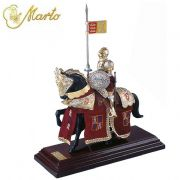 Miniature English Knight With Parade Suit Armour On Horseback